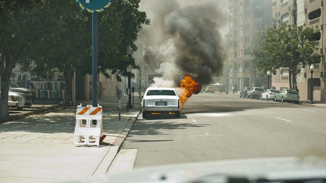 CADDY ON FIRE