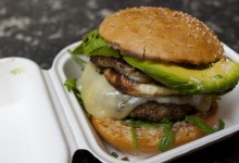 AMERICAN EATERY: ROASTED GARLIC BURGER